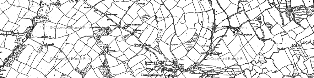 Old map of Alltycadno in 1887