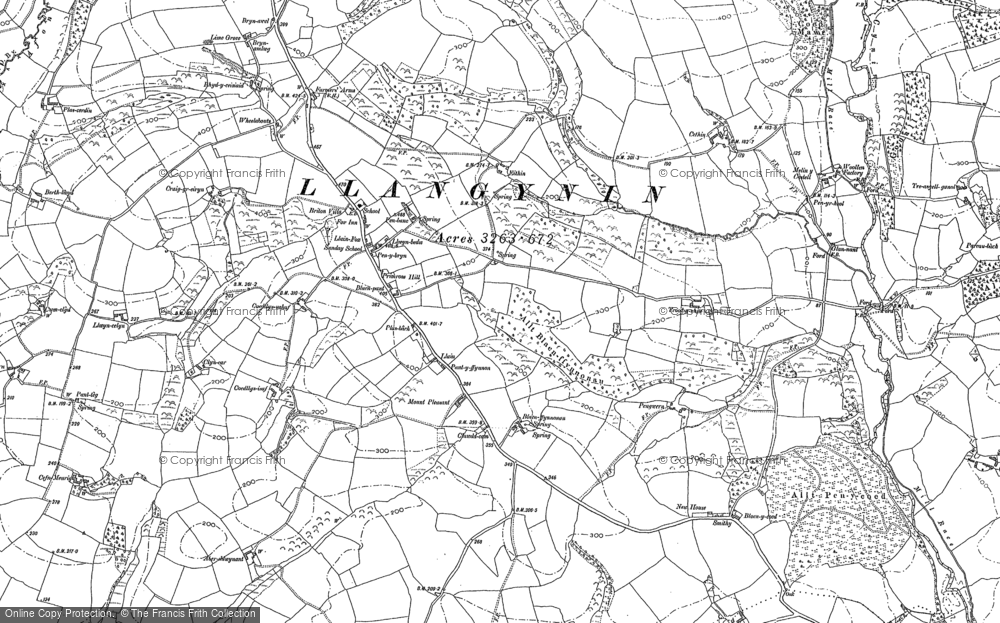 Old Map of Historic Map covering Afon Fenni in 1887