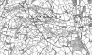 Old Map of Llangynin, 1887 - 1906