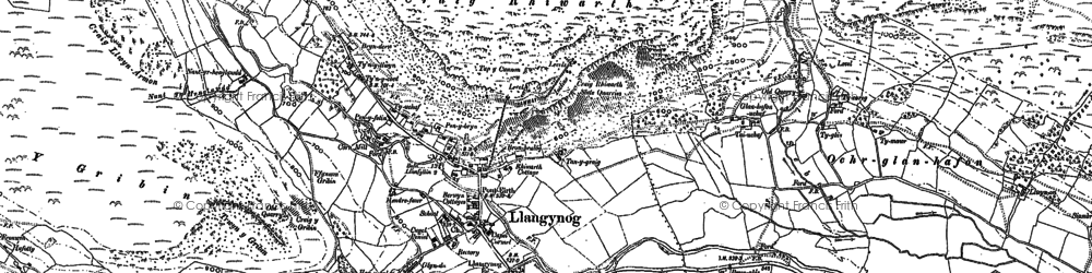 Old map of Afon Eirth in 1900