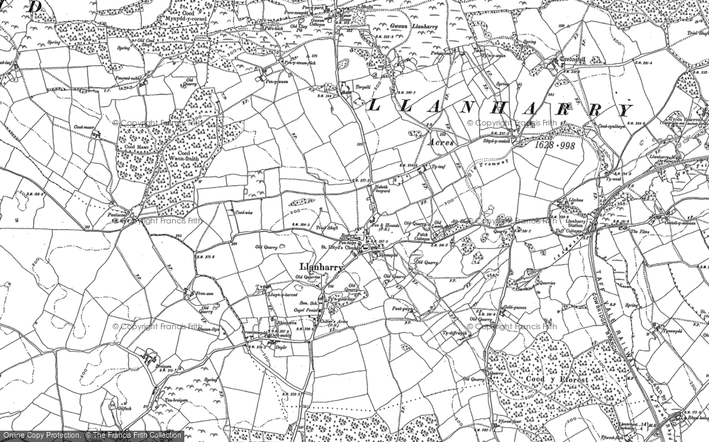 Map of Llanharry, 1897