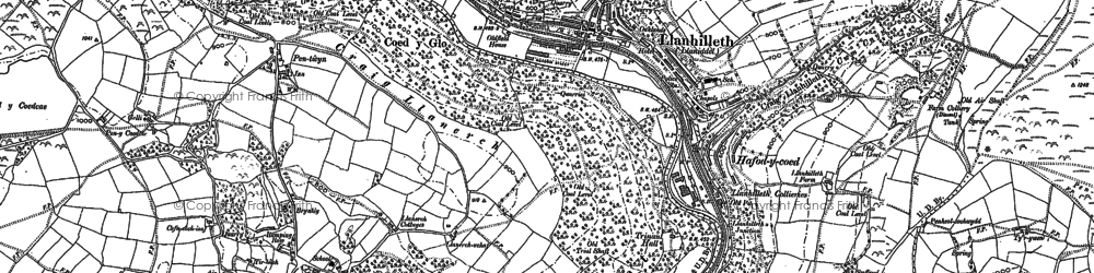 Old map of Llanhilleth in 1899