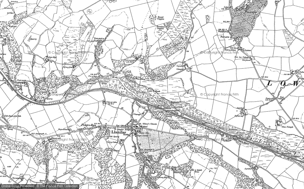 Old Map of Historic Map covering Lanlwyd in 1904