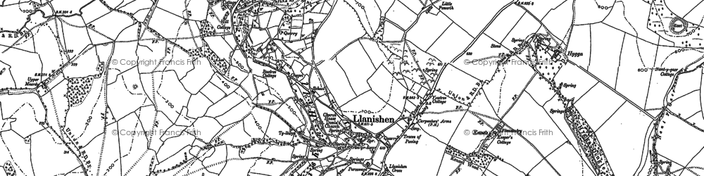 Old map of Woolpitch Wood in 1899