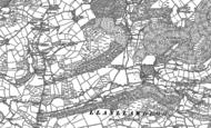 Old Map of Llanllawddog, 1876 - 1887