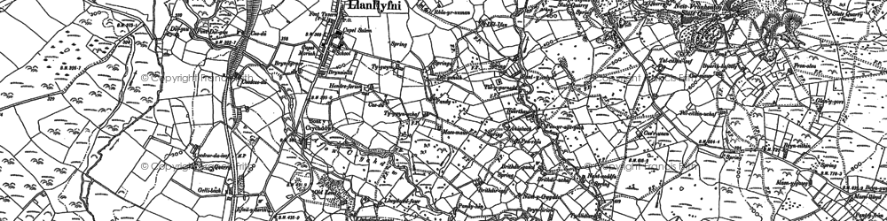 Old map of Afon Ddu in 1887