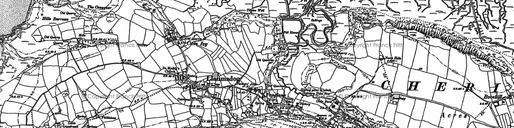 Old map of Whiteford Sands in 1896