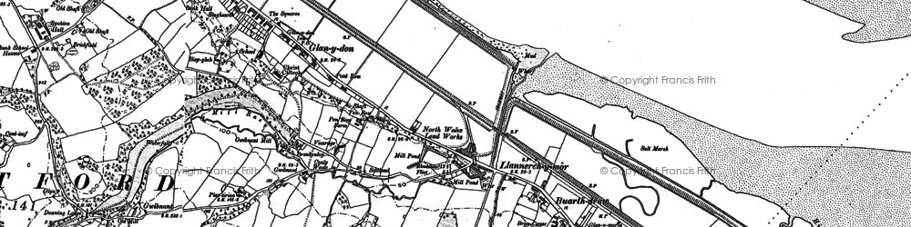 Old map of Llannerch-y-môr in 1898