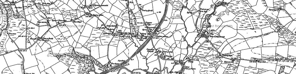 Old map of Alltgaredig in 1887