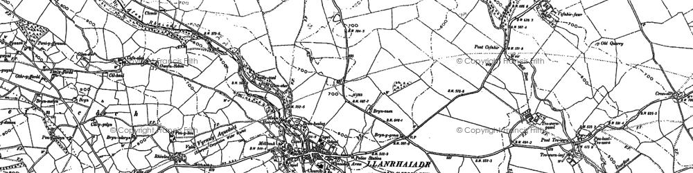 Old map of Afon lwrch in 1900