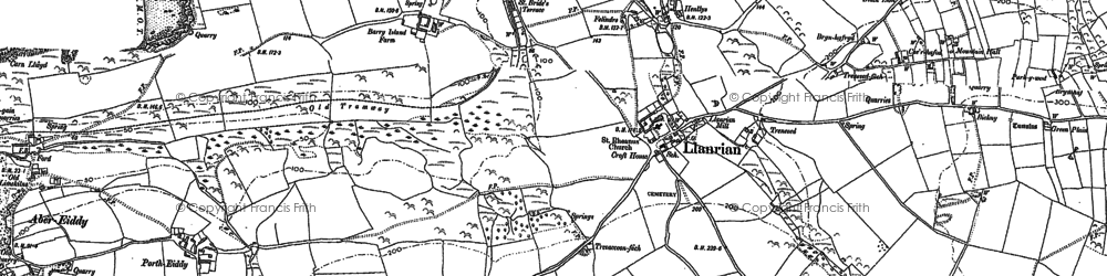 Old map of Llanrhian in 1906