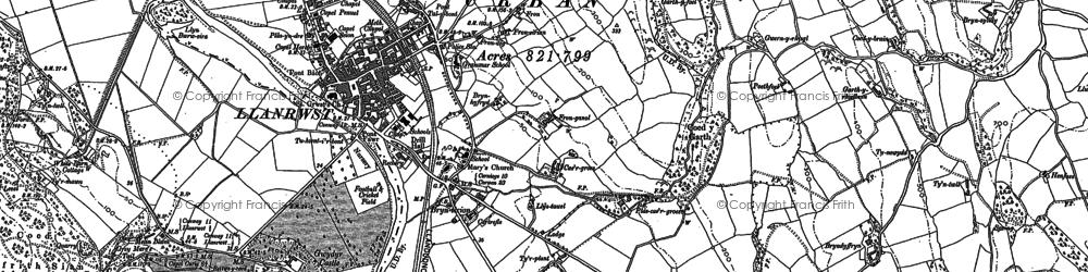 Old map of Llanrwst in 1911