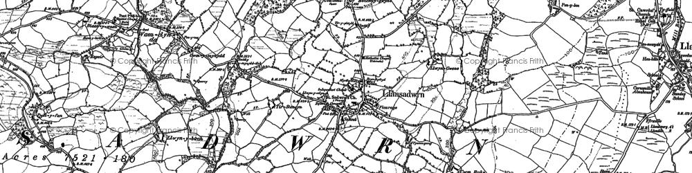 Old map of Aberdeunant in 1884