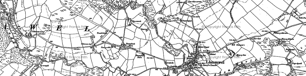 Old map of Wion in 1886
