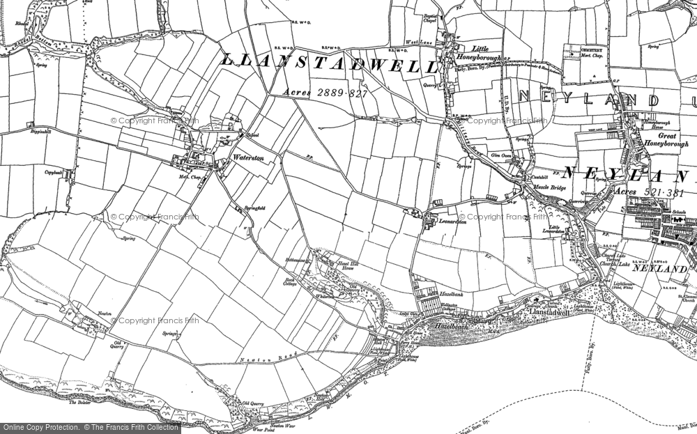 Old Map of Historic Map covering Leonardston in 1906