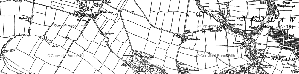 Old map of Leonardston in 1906
