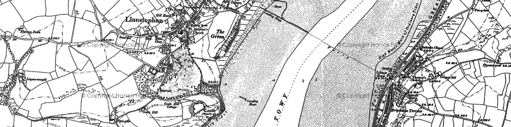Old map of Wharley Point in 1887