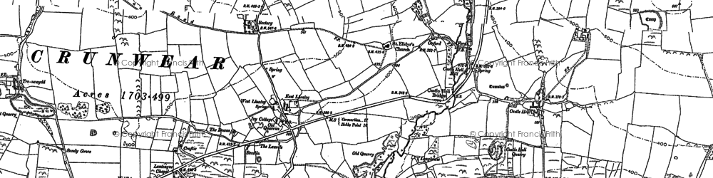 Old map of Ledgerland in 1887