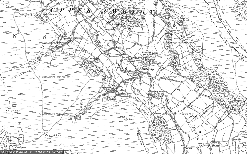 Old Map of Historic Map covering Bâl-Mawr in 1903