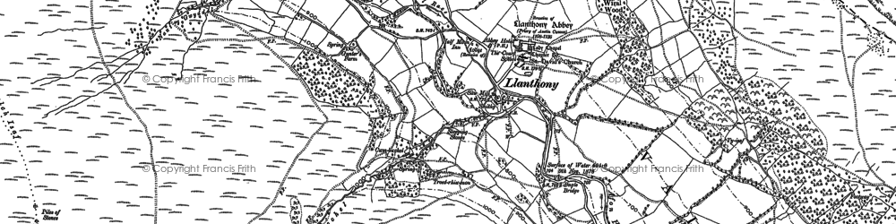 Old map of Bâl-Mawr in 1903