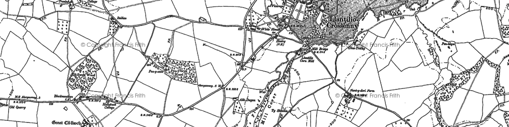 Old map of Ash Grove in 1900
