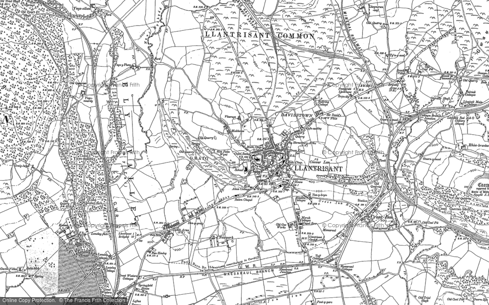 Map of Llantrisant, 1897 - 1898
