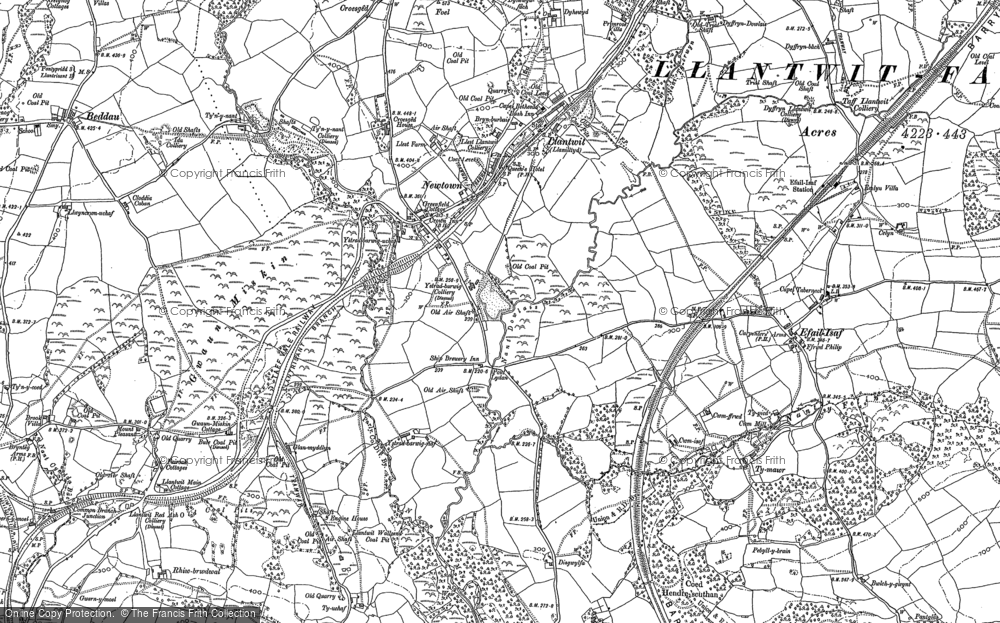 Old Map of Llantwit Fardre, 1897 - 1898 in 1897