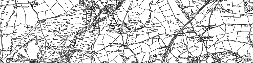 Old map of Llantwit Fardre in 1897