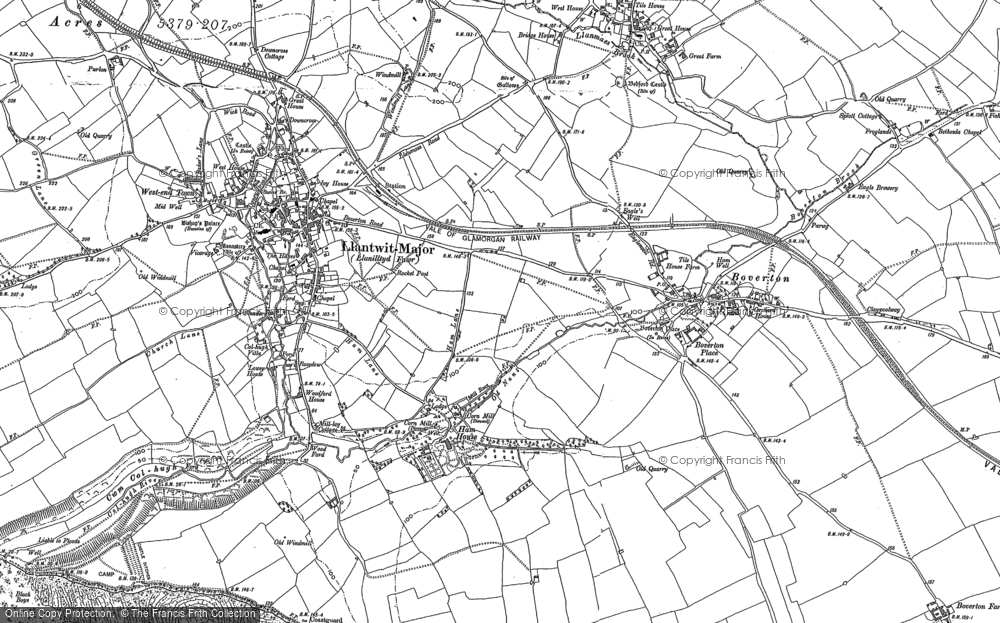 Old Map of Historic Map covering Afon Col'-huw in 1897