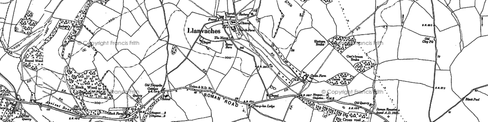 Old map of Whitebrook in 1900