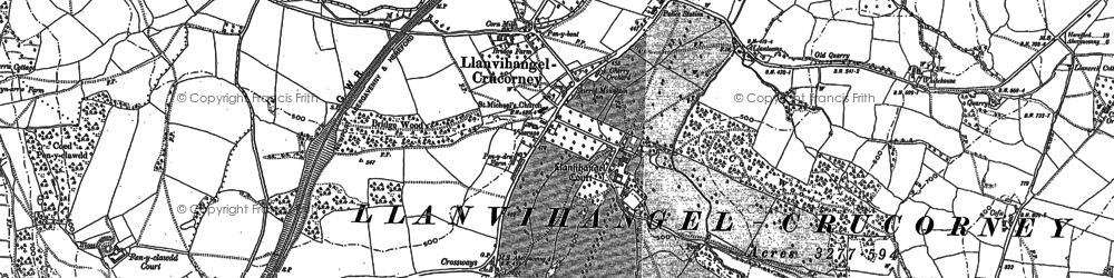 Old map of Arwallt, The in 1899