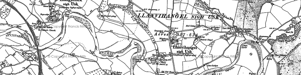 Old map of Aberffrwd in 1899