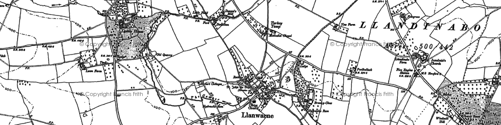 Old map of Whitewell Ho in 1887