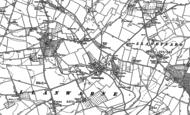 Old Map of Llanwarne, 1887