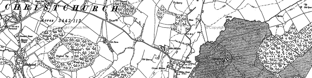 Old map of Llanwern in 1900