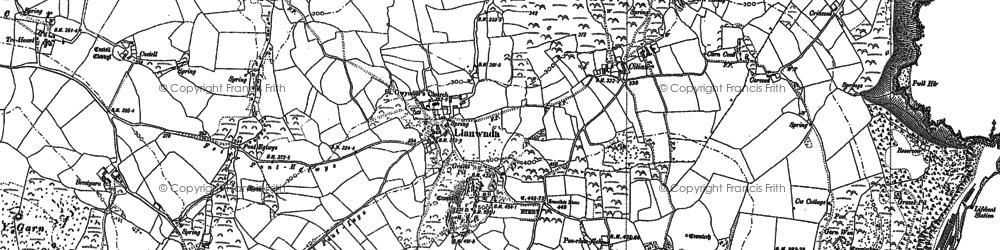 Old map of Y Penrhyn in 1906