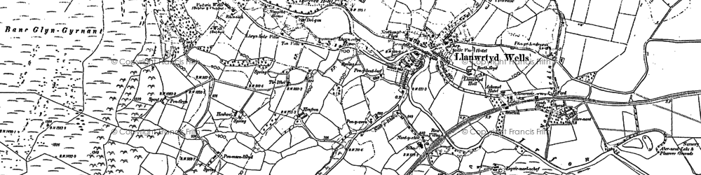 Old map of Alltwineu in 1887
