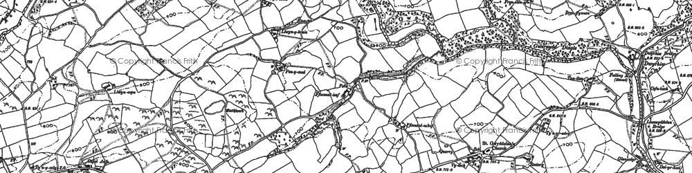 Old map of Lawnt in 1884