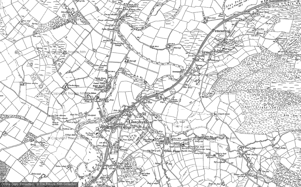 Old Map of Historic Map covering Allt Llwyn-crwn in 1904