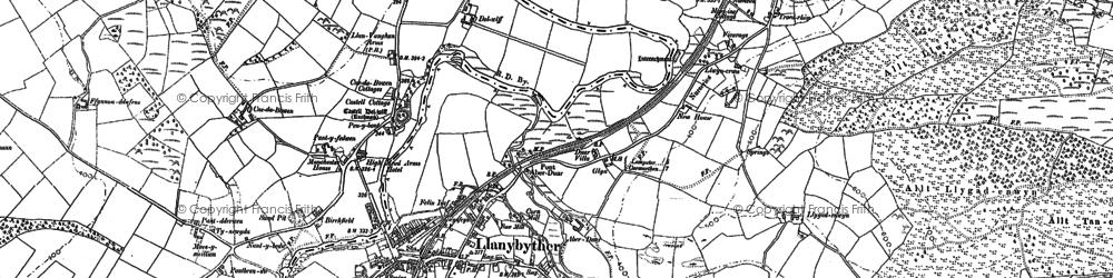Old map of Allt Llwyn-crwn in 1904