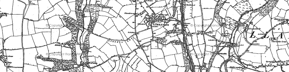 Old map of Alltypistyll in 1887