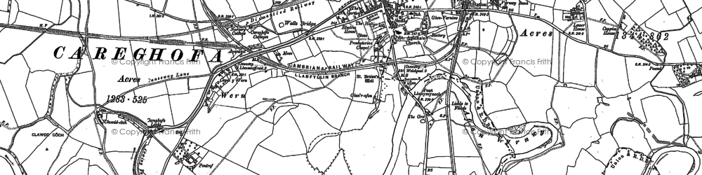 Old map of Llanymynech in 1900