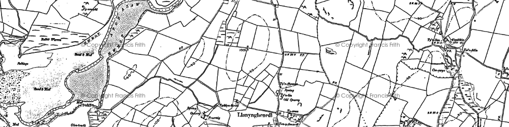 Old map of Ysbylldir in 1887
