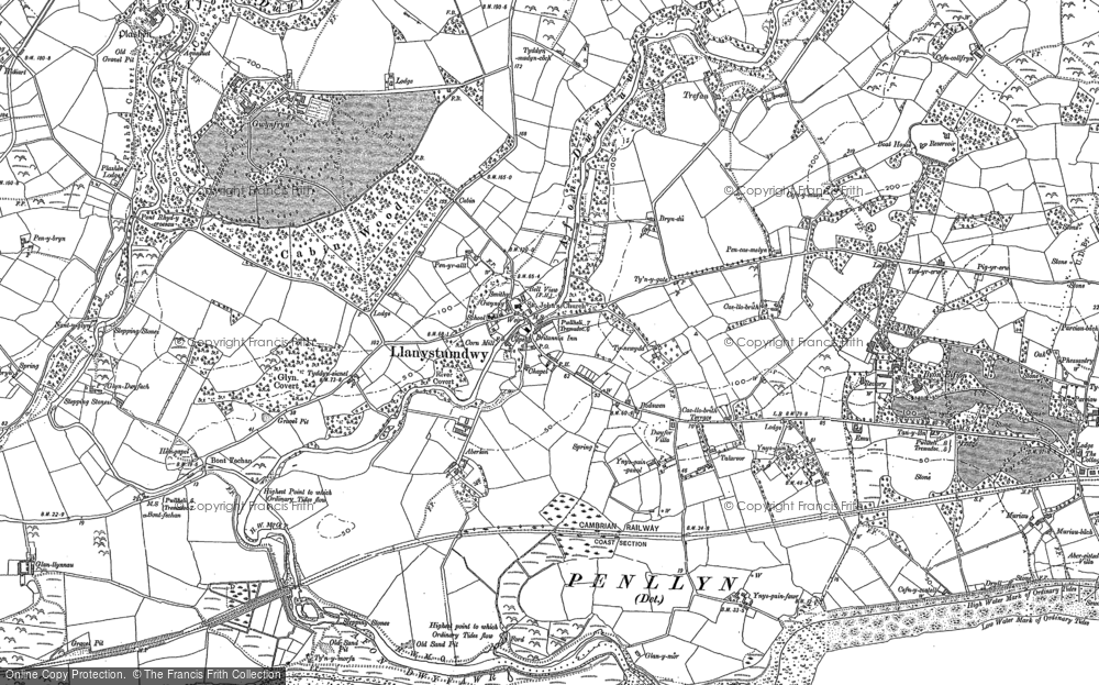 Old Map of Historic Map covering Aberkin in 1888
