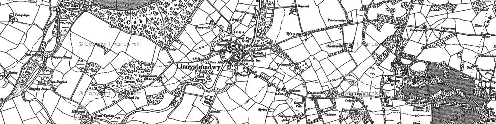 Old map of Aberkin in 1888