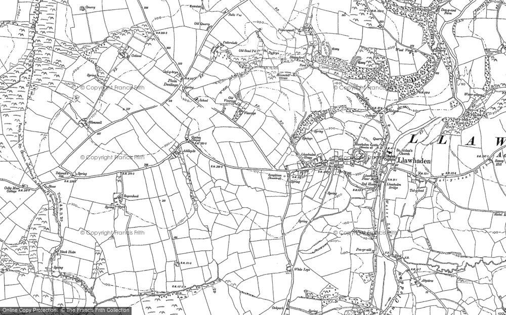 Old Map of Historic Map covering Addlepits in 1887