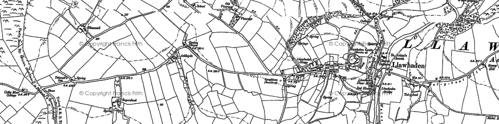Old map of Addlepits in 1887