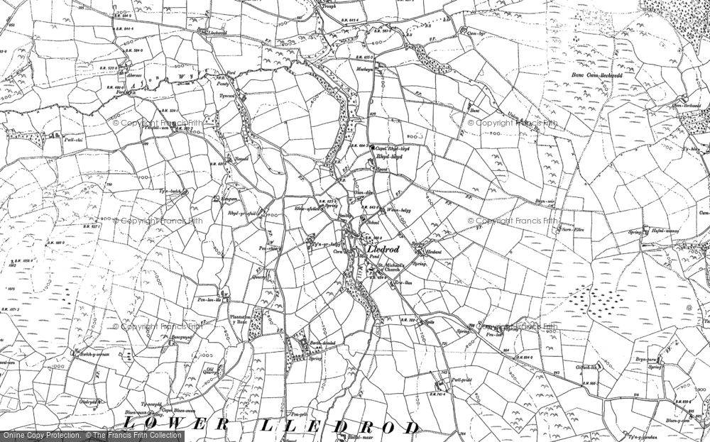 Old Map of Historic Map covering Abernac in 1886