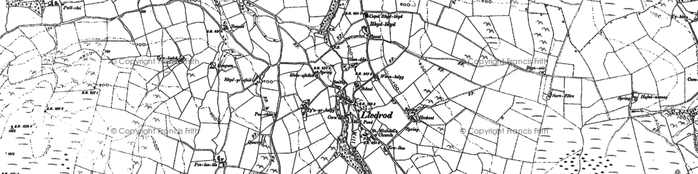 Old map of Abernac in 1886