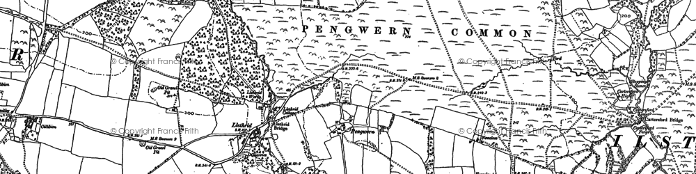 Old map of Gower in 1896